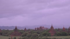View from top of the Shwe San Daw Pagoda - foggy Stock Footage