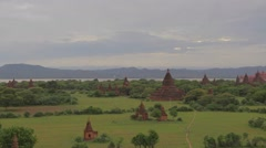 View from top of the Shwe San Daw Pagoda -  sunset Stock Footage
