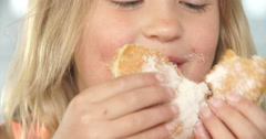 Close Up Of Girl Eating Packet Of Potato Chips - stock footage