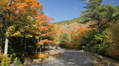 Acadia All American Road in Autumn Stock Footage