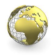 Stock Illustration of Golden globe, Europe