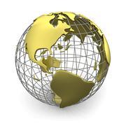 Golden globe, America - stock illustration