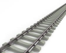 Long Rails Diagonal Stock Illustration