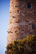 Details of the Desert View Watchtower at the Grand Canyon Stock Photos