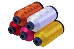 Five spools of threads - stock photo