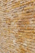 Brick wall background used decorate home Stock Photos