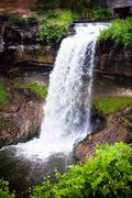 Minnehaha Falls located in Minneapolis Minnesota - stock photo