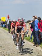 Kenny Dehaes- Paris Roubaix 2014 - stock photo