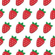 Stock Illustration of Seamless vector strawberry pattern. Design for wallpaper, textile,wrapping paper