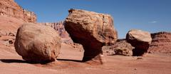 A balanced rocks in the Glen Canyon National Recreation Area, Arizona - stock photo