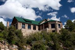Grand Canyon Lodge on the North Rim Stock Photos