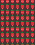 Seamless vector strawberry pattern. Design for wallpaper, textile,wrapping paper - stock illustration