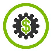 Payment options flat eco green and gray colors rounded glyph icon - stock illustration