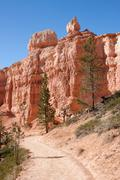 Fairyland Loop Trail in Bryce Canyon - stock photo