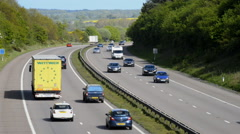 Traffic travelling on the M54 motorway - stock footage