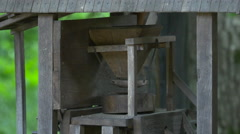 Old grain mill at Astra Museum, Sibiu Stock Footage