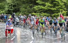 The Peloton - Tour de France 2014 - stock photo