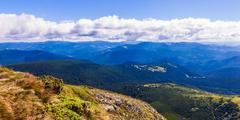 Montenegrin ridge in Carpathians - stock photo