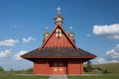 Ukranian Log Church - stock photo