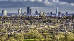 Time lapse view of the skyline of London Stock Footage