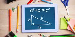 Composite image of trigonometry Stock Photos