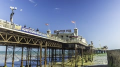 Timelapse view of the Brighton pier Stock Footage