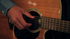 Playing Accoustic Guitar Stock Footage