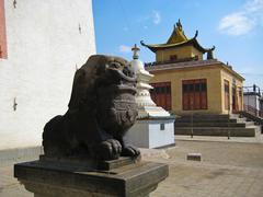 Gandan Khiid Monastery in Ulaanbaatar, Mongolia Stock Photos
