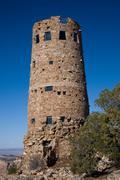 Grand Canyon Desert View Watchtower - stock photo