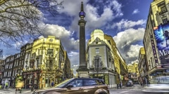 Stock Video Footage of Timelapse view of the seven dials in London