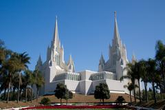 San Diego California Temple - stock photo
