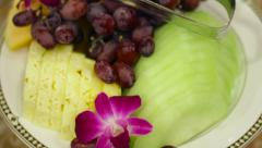 Plate of Fruit Stock Footage
