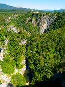 Deep gorge of Reka River at Skocjan Caves Kuvituskuvat