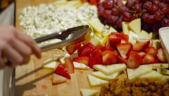 Cheese Plate at Buffet Stock Footage