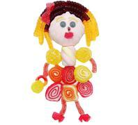 creative marmalade fruit jelly sweet food princess form - stock photo
