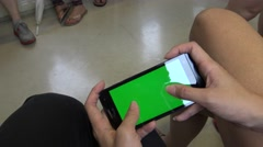 4K Hd Ultra, Close Up of Green Screen phone, People Using Smartphone, Subway-Dan - stock footage