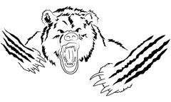 Angry grizzly Stock Illustration