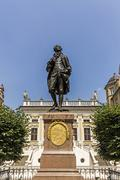 Statue of Johann Wolfgang Goethe, Leipzig - stock photo