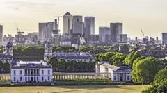 Timelapse of Greenwich, London Stock Footage