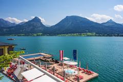 Wolfgangsee lake - stock photo