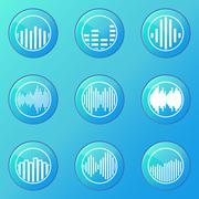 Stock Illustration of Soundwave blue icons