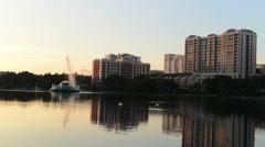 Lake Eola Orlando Florida Stock Footage
