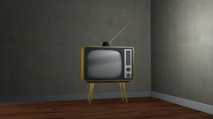 Old TV With Static Screen - stock footage