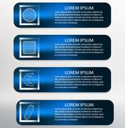 Vector Illustration. Infographic template list  Modern Design white background Stock Illustration