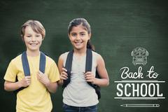Composite image of school kids - stock photo