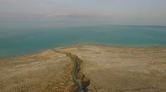 4K Aerial of the Dead Sea, Israel Arkistovideo