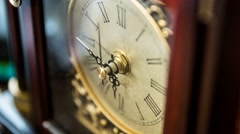 Timelapse of a clock hands rotating Stock Footage