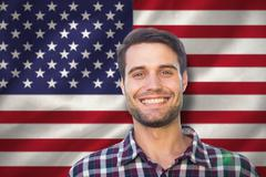 Stock Photo of Composite image of happy young man in the park