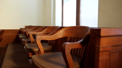 1920's Courtroom Jury Box Stock Footage