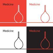 Medicine icon, logo, concept - stock illustration